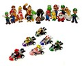 24 Nintendo Super Mario Kart figure SET ca. 5cm perfect for Advent calendar NEW Wario Luigi of n64 wii gameboy