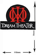 Dream Theater HQ Musicpatch Rock Vest Logo Jacket T shirt Patch Sew Iron on Embroidered Badge Sign Costum
