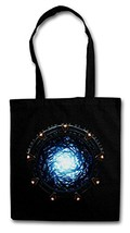 STARGATE PORTAL Réutilisable Pochette Sac De Courses en Coton Hipster Reusable Shopping Bag - Movie SG-1 La Porte Atlantis TV Series Infinity Stargate des étoiles