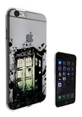 C0682 - Doctor Who Art Graffiti Style Police Box Tardis Design iphone 6 6S 4.7'' Fashion Trend Protecteur Coque Gel Rubber Silicone protection Case Coque