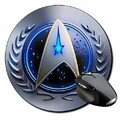 Star Trek United Federation of Planets A Tapis De Souris Ronde Round Mousepad PC