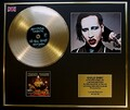 MARILYN MANSON/CADRE DISQUE D'OR/VINYLE, PHOTO ET LIVRET/EDITION LIMITEE/CERTIFICAT D'AUTHENTICITE/PORTRAIT OF AN AMERICAN FAMILY